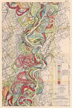 New item in my etsy shopMap showing the Ancient Courses of the Mississippi River Meander Belt Sheet 4 geological survey map vintage reproduction 1943 by PanchromaticaDesigns. Find it here http://ift.tt/2opCd0p
