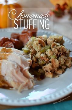 Homemade Stuffing with Savory Herbs & Cranberries - A Teaspoon of Happiness