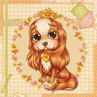 The Most Adorable Cavalier - Digital Stamp The Paper Shelter, digital stamps, scrapbooking, crafts, dodles, cliparts, images resources, craft supplies & Digital Papers for all your needs