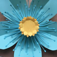 Download the templates and craft a giant, 22 paper flower to add to a flower wall or display on its own. Templates include options for cutting on Cricut Explore (SVG) or Silhouette (DXF) craft cutters. Downloads also include written instructions with photos and links to tutorial videos. Skill level: Intermediate Time: Approximately 1 hour plus cutting time Includes the following file formats: - SVG Files – Cricut Design Space and Silhouette Studio Designer Edition (.svg) - DXF Files…