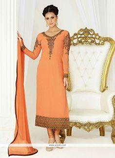 Excellent Georgette Embroidered Work Churidar Salwar Suit Model: YOS7756