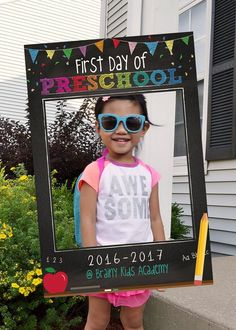 First Day of School Photo Booth. Back to School Frame. First Day of School Sign for kids, parents, and teachers!