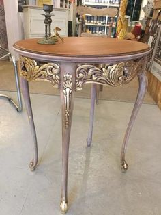 Silver and Gold.reminds me of a long-ago GIrl Scout Song Hand Painted Furniture, French Furniture, Refurbished Furniture, Paint Furniture, Repurposed Furniture, Furniture Projects, Furniture Making, Furniture Makeover, Furniture Design