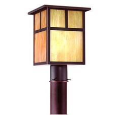 Troy Lighting / Mission One Light 13.25 '' tall outdoor post lantern $180 from Lighting Direct    8.75'' width, 13.25'' height