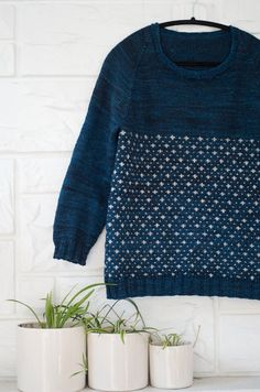 Knitting pattern for the SNOWFALL SWEATER by kraftling on Etsy
