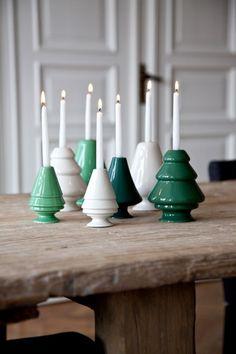 """Grüne Weihnachtsstimmung: Kerzenhalter """"Avvento"""" von Kähler Design"""