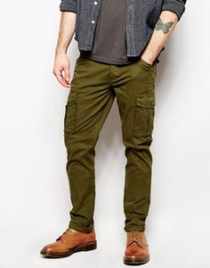 SELECTED* Slim Fit Cargo Cargo Pants