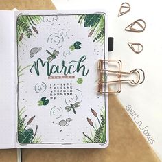 Art n Foxes | Bullet Journal sur Instagram: Hey guys 🧡 I just published my March Plan With Me video on my YouTube channel (link in bio) 🦊 And as promised - here's my March cover page…