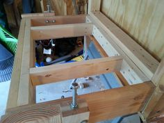 Completed framing the new base for the table saw.