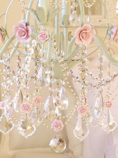 Shabby Chandelier offered by Gypsy Purple home. Shabby Chic Vintage, Style Shabby Chic, Vintage Style, Purple Home, White Chandelier, Floral Chandelier, Nursery Chandelier, Vintage Chandelier, Chandelier Lighting