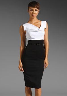 c5d88854ec BLACK HALO Jackie O Two Tone Dress in White Black at Revolve Clothing - Free