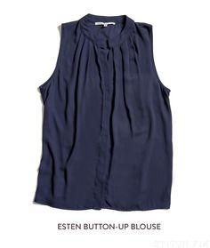 Stitch Fix Esten Blouse / great navy basic