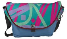 Customizable 80s bag eighties purse vintage medley medium messenger bag.