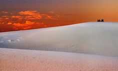 Watching the sunset White Sands National Monument, New Mexico, Airplane View, Sunset, Sunsets, The Sunset