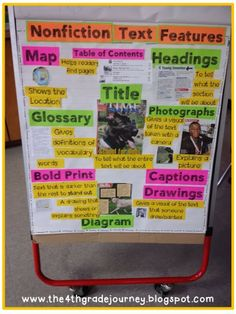 Teaching Text Features through a Project Freebie! This is a great way for students to learn about text features by creating their own poster project.