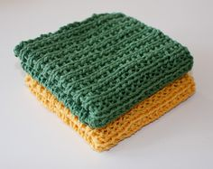 Knit Dishcloth, Knitting Patterns, Knitting Ideas, Crochet Projects, Knitted Hats, Blanket, Diy, Towels, Diy And Crafts