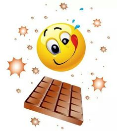 Smiley - '' I'll show you it's chocolate. Of chocolate that love is made of, chocolate, choc choc chocolate hits my heart. Love Smiley, Emoji Love, Emoji Images, Emoji Pictures, Funny Emoticons, Funny Emoji, I Love Chocolate, Chocolate Lovers, Smiley Emoticon