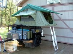 I am going to have my husband make this for our camping trips!!!! Bug Out Trailer, Trailer Build, Off Road Trailer, Box Trailer, Overland Trailer, Expedition Trailer, Camping And Hiking, Outdoor Camping, Off Road Camping