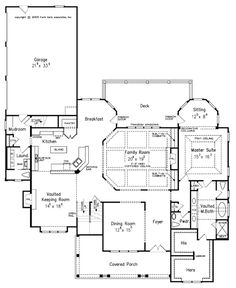 House Plan 83074 - Craftsman Style House Plan with 3878 Sq Ft, 4 Bed, 6 Bath, 3 Car Garage Best House Plans, Dream House Plans, House Floor Plans, Dream Houses, Construction Documents, Country Style House Plans, Craftsman Style House Plans, Home Design, Design Ideas