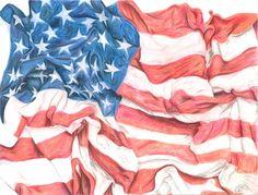 American Flag Still Life. by Fullmoon-rose on DeviantArt
