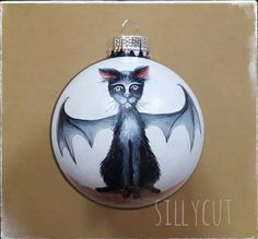 Original hand painted gothmas glass bauble  by me: Sillycut
