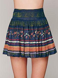 FP ONE Thai Print Mini Skirt $98