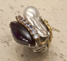 Black and pearls #jewlery #rings #gioielli #giuseppinafermi #accesories #madeinitaly