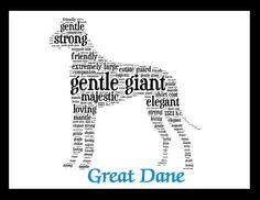 Great Dane Original Art Illustration by PetsLuv on Etsy, $20.00