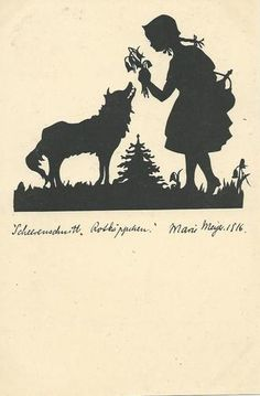 Marie Meyer Fairy Tale Silhouette Red Riding Hood