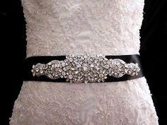 black encrusted wedding belt