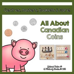This is a resource for teaching Canadian coins/money to young learners. I created this for my Ontario FDK (Full Day Kindergarten) classroom but most of the activities should be appropriate for Grade 1 as well :) Here is what is included: * UPDATED on * Money Activities, Teaching Activities, Educational Activities, Teaching Ideas, Teaching Money, Teaching Time, Teaching Tools, Kindergarten Lessons, Kindergarten Classroom