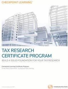 The Tax Research Certificate Program helps candidates develop foundational tax research knowledge while earning up to 20 hours of Continuing Professional Education credit. This program was developed to fill in the gaps for entry-level tax professionals and those re-entering the workforce after an extended leave.