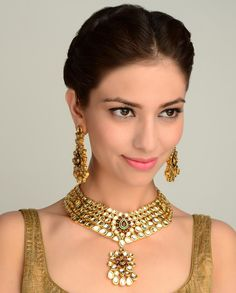 The Mrinalini Necklace Set  by Nidhaan