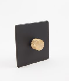 Our exclusive designer dimmer switch single black & gold... Probably the most glamorous single dimmer switch ever - perfect for the industrial-luxe look.