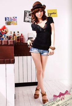 Aliexpress.com : Buy Free Shipping T Shirt for Women Sexy Tops Deep V Neck Lace Trim Short Sleeve T Shirt W0079 from Reliable T-Shirt for Women Sexy Tops suppliers on SICIBAY - Kids' Clothing:Selling for Donating