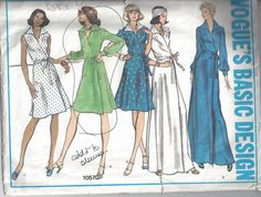 Vogue Basic Design 1057 Misses Dress. Size 14 by Buyfoxy on Etsy