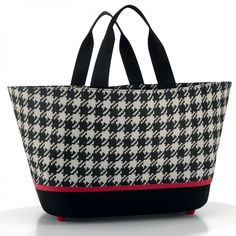 Einkaufskorb shoppingbasket fifties black - reisenthel #black #white #shopper #bag