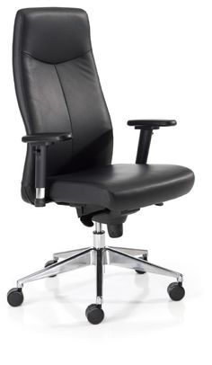 Un sillón direccional, elegante, envolvente, fabricado en piel de color negro de gran calidad y pensado para largas jornadas de trabajo. A estos beneficios hay que sumarle otra de las ventajas que lo hacen más atractivo, si cabe; su precio desde 315€.
