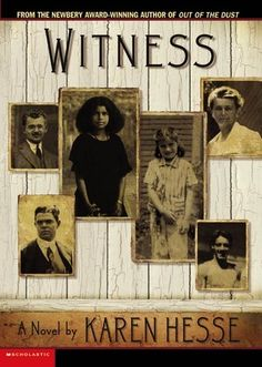 Witness by Karen Hesse (Grades 6 & up). A series of poems express the views of various people in a small Vermont town, including a young black girl and a young Jewish girl, during the early when the Ku Klux Klan is trying to infiltrate the town. Great Books, My Books, Amazing Books, English Festivals, Newbery Award, Newbery Medal, Mighty Girl, African American Girl, Summer Reading Lists