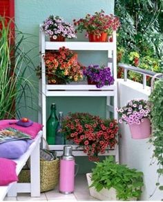 55 Balcony Greenery Ideas - Choose flowers for balcony and arrange