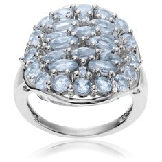Journee Collection Sterling Silver Topaz Cluster Ring
