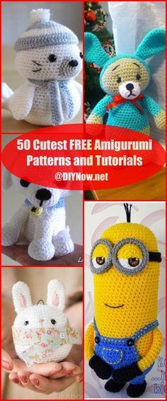 50 Cutest FREE Amigurumi Patterns and Tutorials