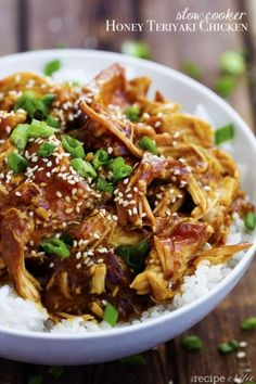 30 Slow Cooker Better than Takeout Recipes Honey Teriyaki Chicken and Veggies