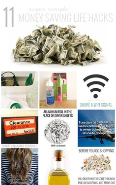 Money Saving Life Hacks - These are super easy and will save you hundreds per year. There's no reason not to try these simple ways to save money!