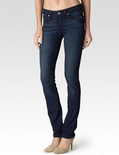 Paige®   Skyline Petite Straight Leg Jeans in Midlake