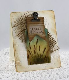 Fathers Day Canvas by Vervegirl - Cards and Paper Crafts at Splitcoaststampers