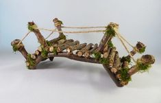 Excellent Absolutely Free Fairy Garden bridge Tips Creating a whimsical garden to the wee folks requires imagination and creativity. Mini Fairy Garden, Gnome Garden, Fairies Garden, Fairy Houses Kids, Lavender Decor, Fairy Garden Furniture, Twig Furniture, Furniture Design, Fairy Garden Accessories