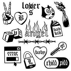 Mini Drawings, Small Drawings, Tattoo Drawings, Cool Small Tattoos, Small Tattoo Designs, Mini Tattoos, Black Tattoos, Stick Poke Tattoo, Homemade Tattoos