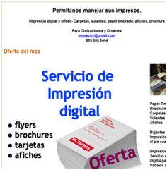 500 tarjetas por $1,000 pesos, Oferta del mes - 809.686.0464 - Publicidad