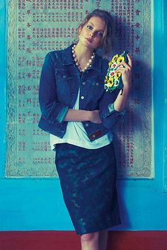 love the way this is put together, and made it a casual look...#Anthropologie
